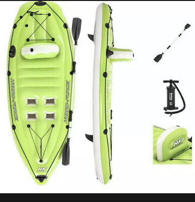 Bestway Hydro-Force Koracle Inflatable Fishing Kayak With Pump And Paddle