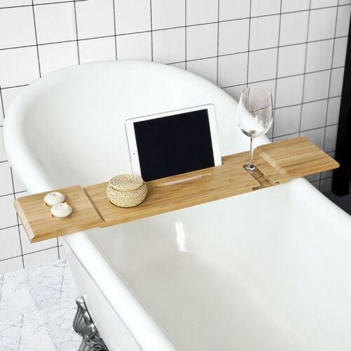 SoBuy® 80cm Lang-Badewannenablage,Badewannenbrett,Badewannenauflage,FRG104-L-N