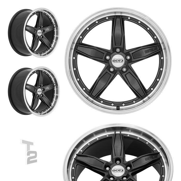 4x 19 Zoll Alufelgen für Mercedes Benz A-Klasse / Dotz SP5 dark (B-7201013)