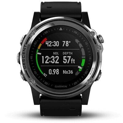 Garmin Descent Mk1 Dive Watch - Silver Sapphire/Black