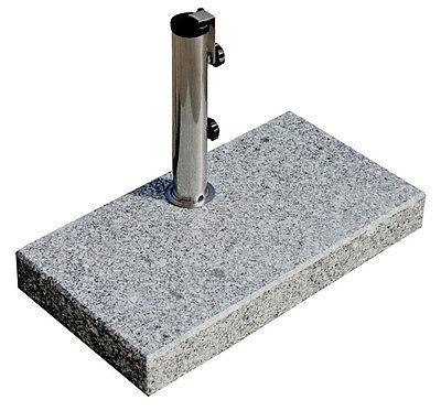 Sonnenschirmständer 25 kg, Schirme bis Ø300cm Granit-Balkonschirmständer eckig