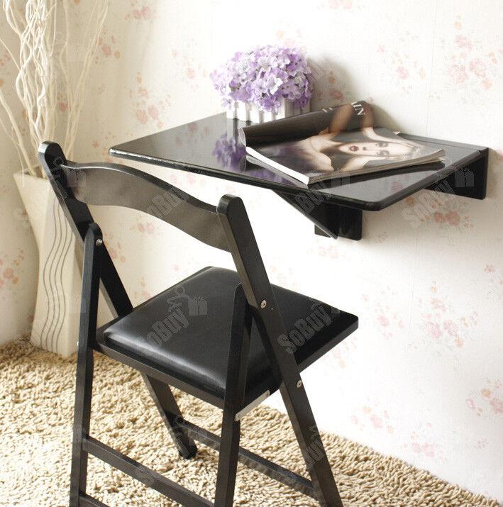 SoBuy® Wandklapptisch,Küchentisch,Esstisch,Kindermöbel, OHNE STUHL,FWT03-SCH