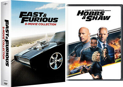 Fast and Furious: 8-Movie Plus HOBBS & SHAW 9 Film DVD Collection US Seller New