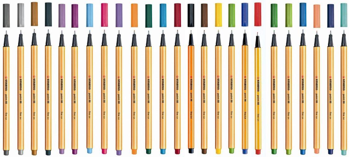 Stabilo® Point 88® Fine 0,4 Feinliner Fasermaler Tintenfeinschreiber Filzstifte