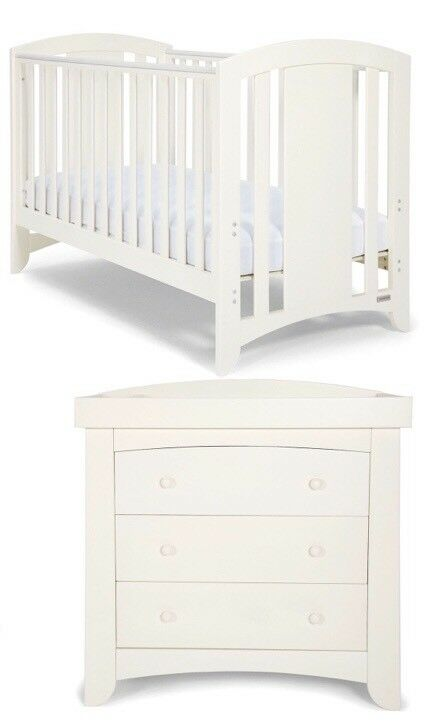 mamas and papas 2 nursery set cot toddler bed Cot Bed And Chest Of Drawers Set id=18694