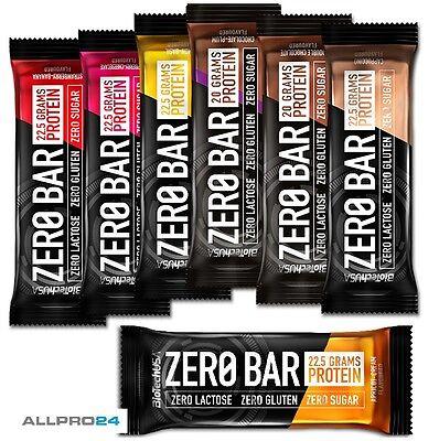 Biotech Zero Bar 10x 50g zuckerfrei Protein Eiweiss Riegel Low Carb (33,62€/Kg )