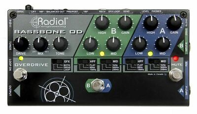 Radial Tonebone Bassbone OD Two Channel Bass Guitar Preamp Pedal live *NEW*
