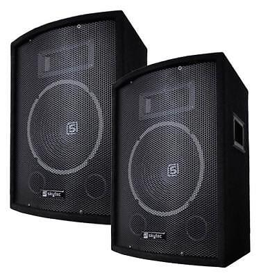 Skytec SL10 1000W DJ PA LAUTSPRECHER Party Boxen Paar 10