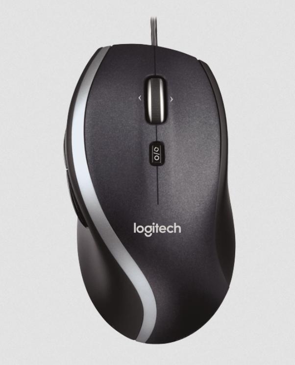 Logitech Maus Corded Mouse M500 Laser 7 Tasten mit Scrollrad USB schwarz