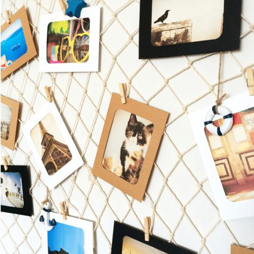 30 Rahmen Fischernetz Fotovorhang Dekonetz Fotowand Bilderhalter Netz Wand DHL