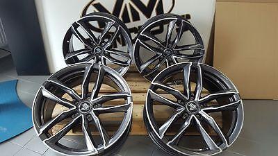 19 Zoll UA6 Alu Felgen 8,5x19 et45 5x112 anthrazit grau poliert für Audi RS3 RS