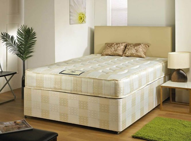 Brand New Single Small Double King Size Divan Bed Bases With Orthopedic Memory