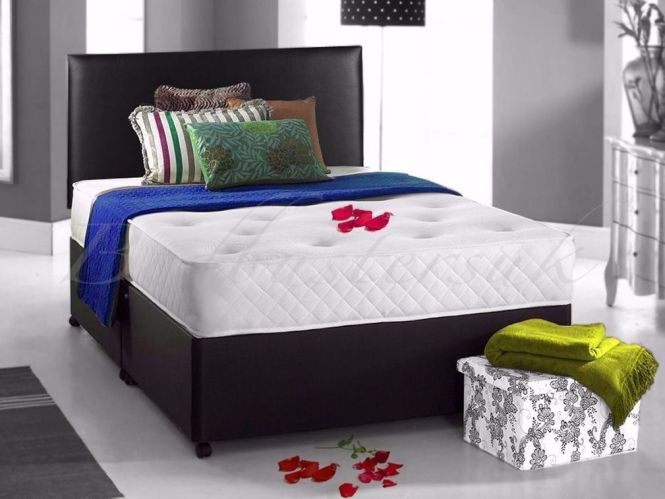 Double Divan Bed With Orthopaedic Mattress Single Kingsize Available