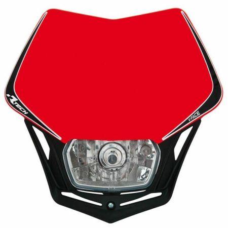 Mascherina portafaro moto enduro V-Face Racetech Rosso