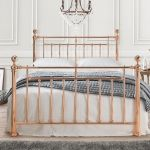 Alexandar Rose Gold Metal Bed Frame Modern Style In Double King Size Ebay