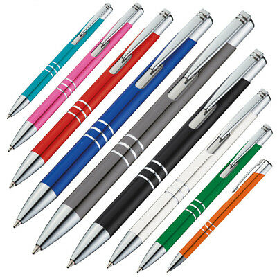 10 Kugelschreiber aus Metall / verschiedene Farben sortiert