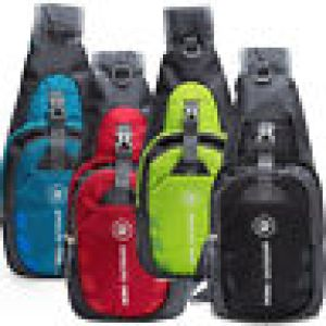 Men Women Nylon Sling Bag Backpack Crossbody Shoulder Chest Cycle Daily Travel