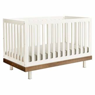Oeuf Classic Cot In Walnut W Toddler Bed Conversion Kit