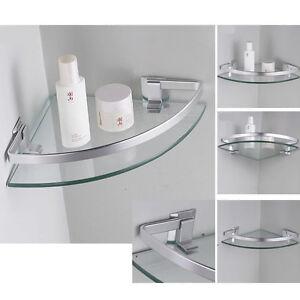 Bathroom Glass Corner Shelf | eBay on Bathroom Corner Shelf  id=94331