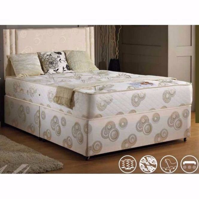 Brand New Double King Size Divan Bed Base With Semi Orthopedic Mattress