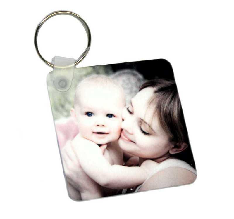 Schlüsselanhänger mit Fotodruck • ein-/ beidseitig • 57x57mm • ideales Geschenk