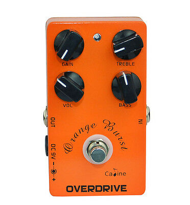 Caline CP-18 Orange Burst Overdrive Effects Pedal