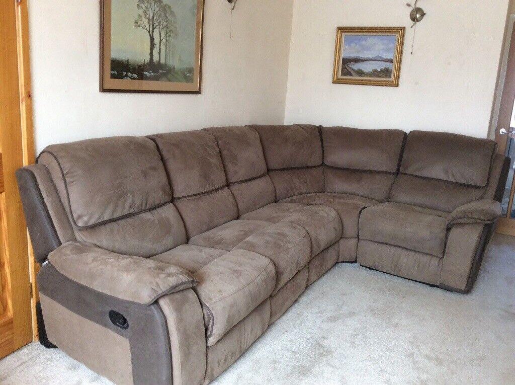 Ikea farlov corner sofa brand new with additional cover. Corner Sofa. 5 seater Holden Harvey sofa.Brown faux suede ...