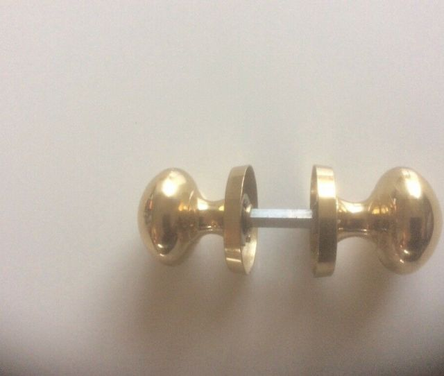 Brass Interior Door Knobs  Pair Of Door Knobs Like New Bars And Screws Encluded