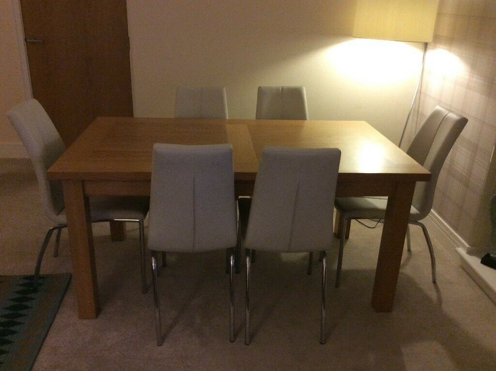 Next Chairs & Oak Dining Room Table