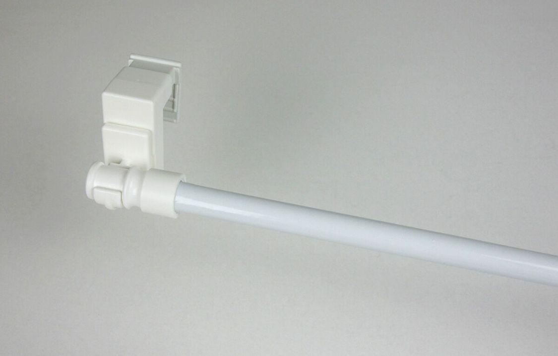 Klemmstange, Gardinenstange mit Klemmhalter, ausziehbar ,Ø 12 mm, weiß
