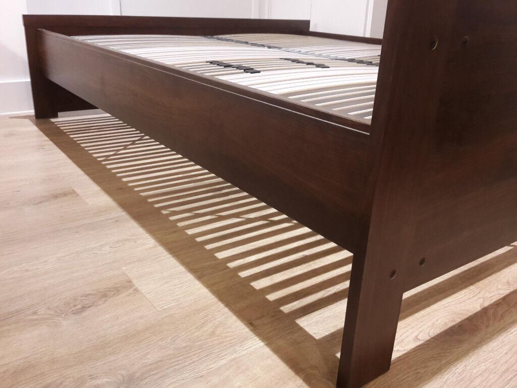 IKEA Bed Frame High MALM Black Brownlnset 160x200
