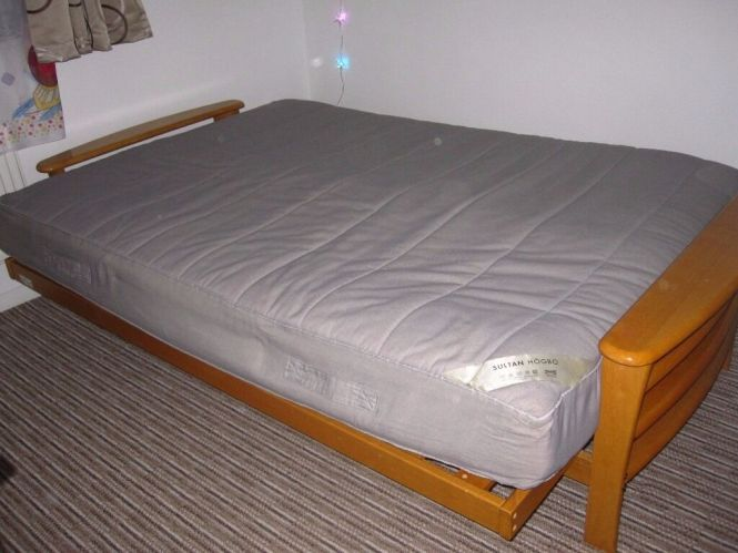 Ikea Double Mattress Sultan Hogbo Grey