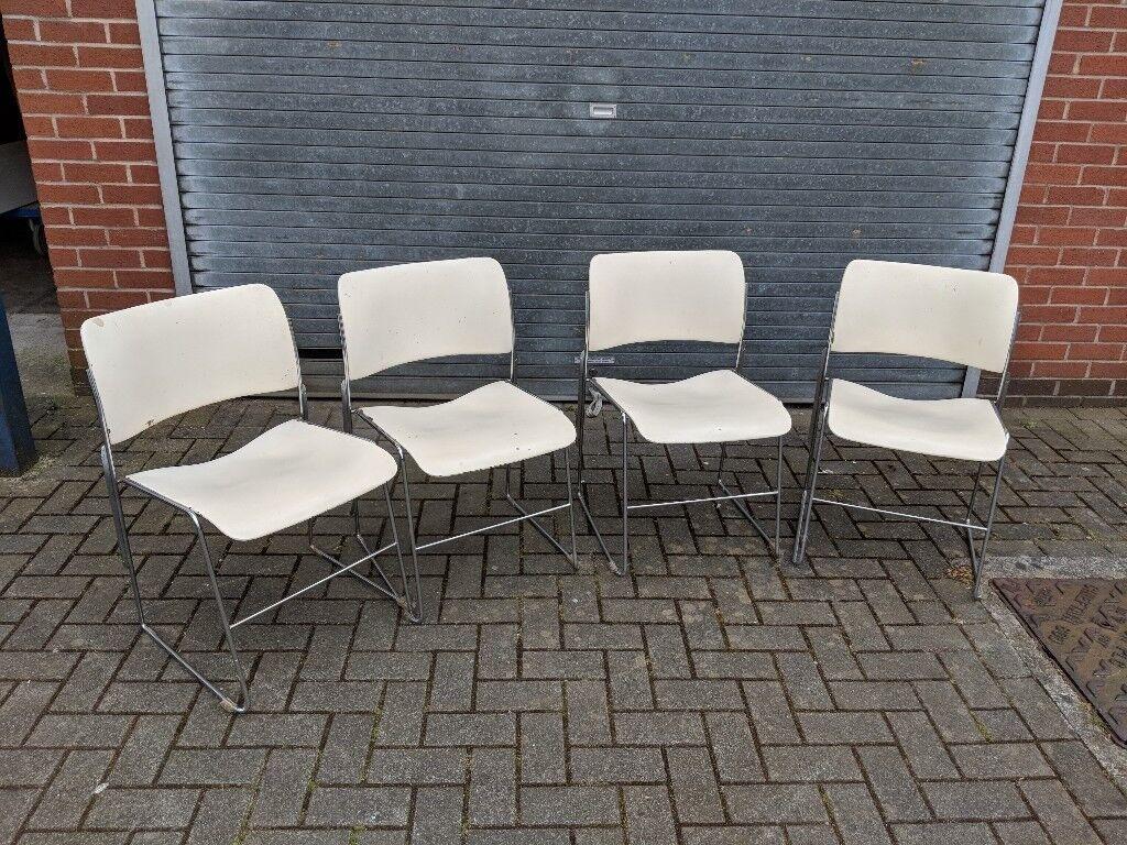 Vintage 4x Metal Stacking Chairs 40 4 David Rowland In Bishopston Bristol Gumtree
