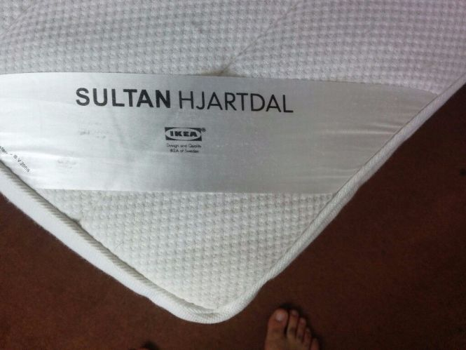 Ikea Sultan Hjartdal Mattress King Size Good Condition Image 1 Of 3