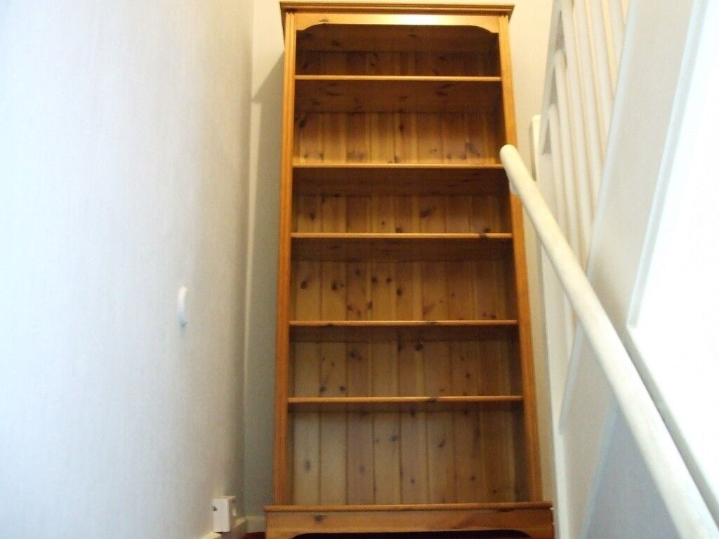 Lovely Solid Pine Bookcase 6 Ft X 2 Ft 8 Inch 10 Inch Deep