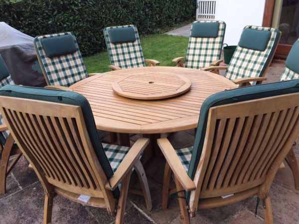 teak patio furniture sets Nova Teak patio furniture set 6-8 seat table with