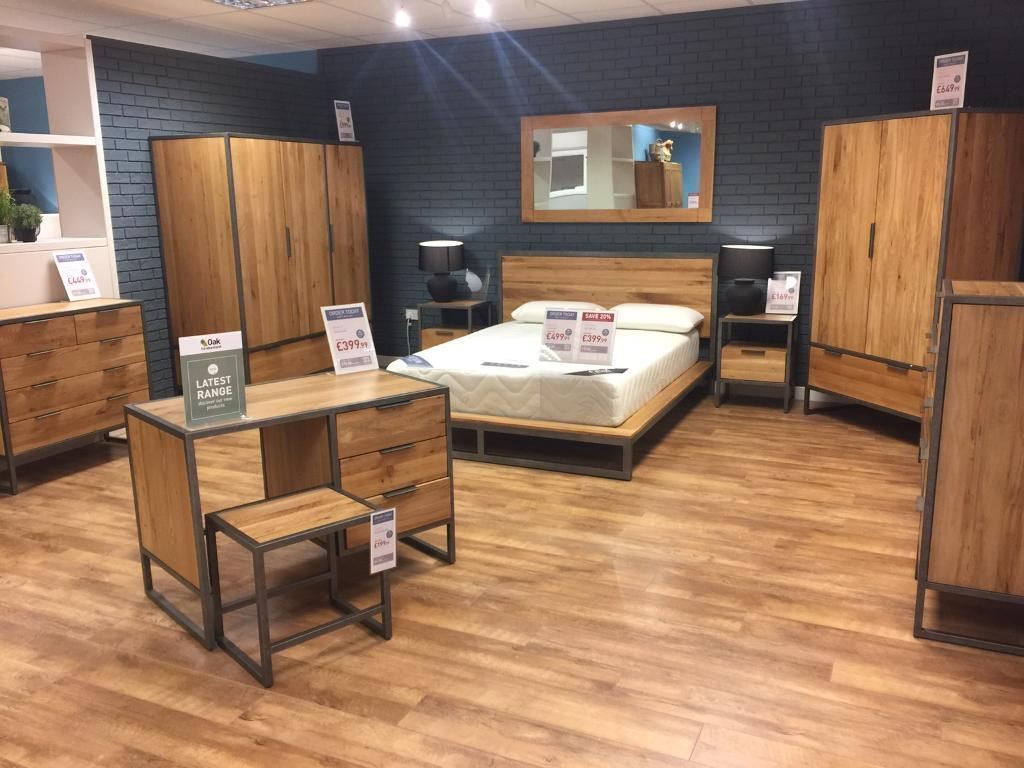 You might also want to look at ikea, they do some quite usable wooden chests of drawers. Oak And Metal Furniture ***BARGAIN*** | in Reading ...