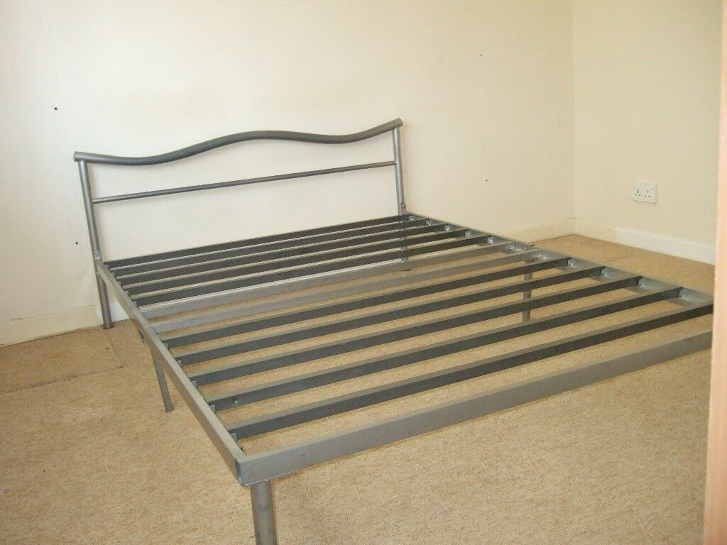 walsgrave silver coated bed base metal slats on Double Bed Slats id=40171