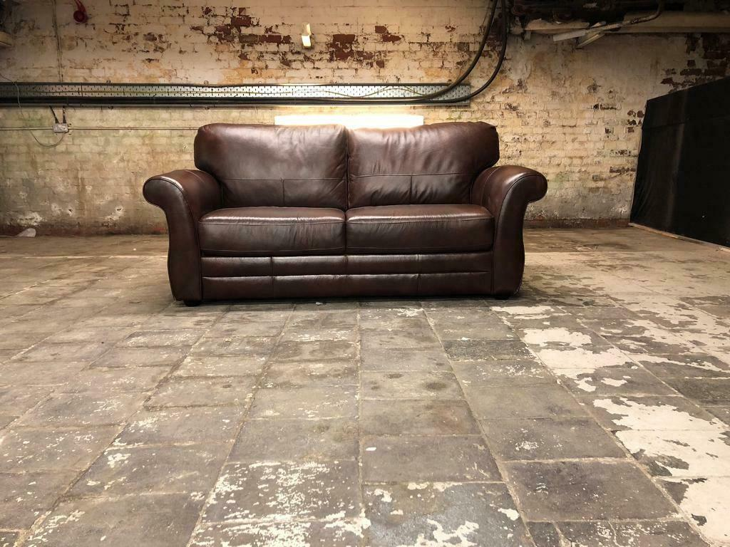 However, with a little ingenuity, you could have custom leather furniture in your home for a fraction of the cost. BRAND NEW Chestnut Brown Italian Leather 3 Seater Sofa ...