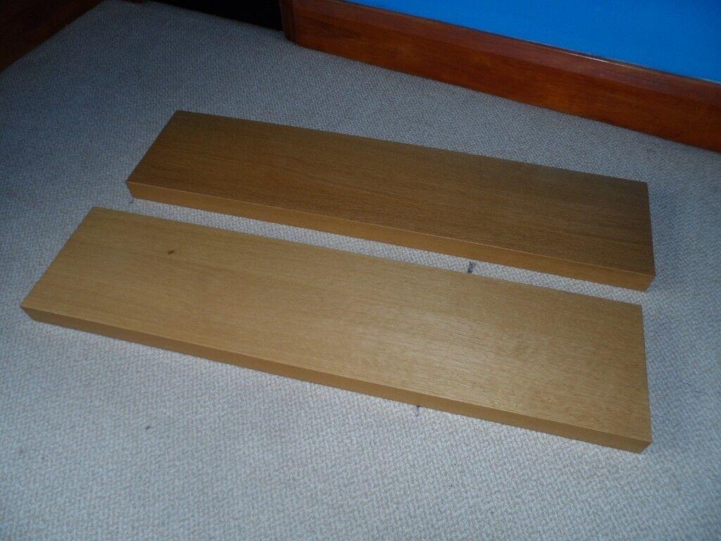 Ikea Lack Oak Floating Shelves Shelf In Addlestone Surrey Gumtree