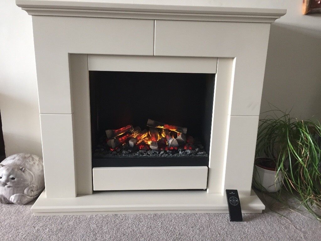 Dimplex Albany Opti Myst Electric Fire And Surround
