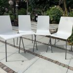 4 White Ikea Martin Stackable Dining Room Chairs In Luton Bedfordshire Gumtree