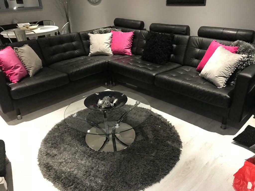 Ikea fabric corner sofas include features like memory foam and armrests with extra. Ikea leather 5 seater corner sofa | in Ilford, London ...