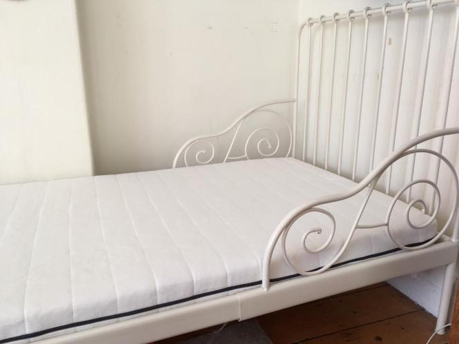 Ikea Minnen Bed Sultan Florvag Mattress