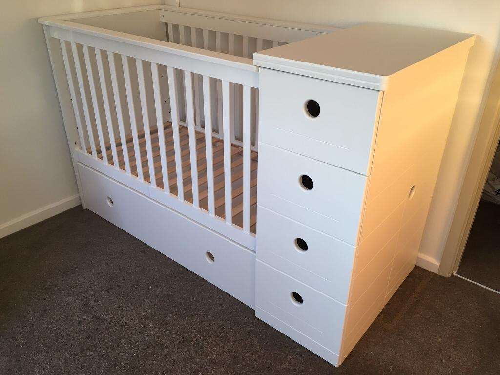 3 in 1 cot bed changing table chest of drawers on Cot Bed And Chest Of Drawers Set id=47575
