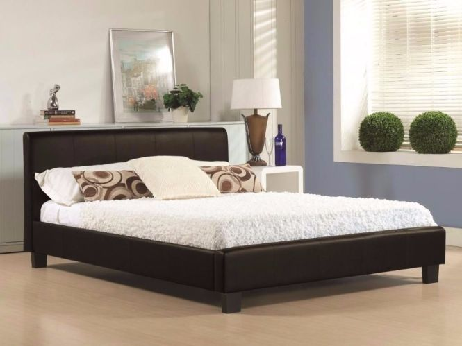 Est Price Guaranteed Brand New Double Leather Bed And Memory Foam Full