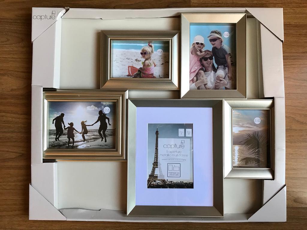 gold multi photo frame | Framess.co