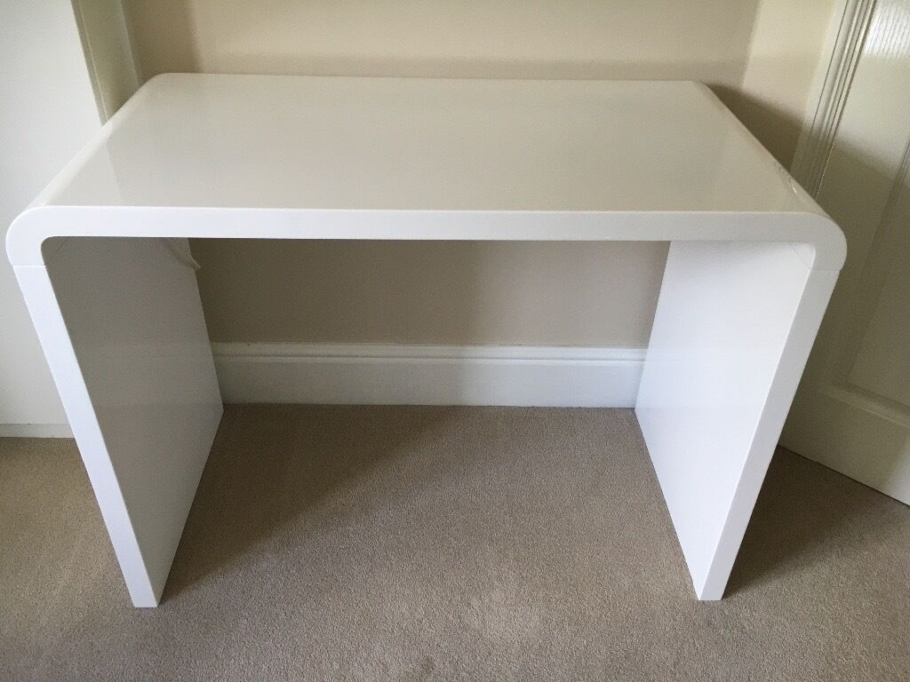 Dwell Desk Compact Hudson In Gloss White In High