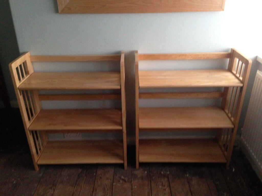 Solid Wood Folding Bookcase Shelves Display Unit 3 Shelves H87cm In Berkhamsted Hertfordshire Gumtree