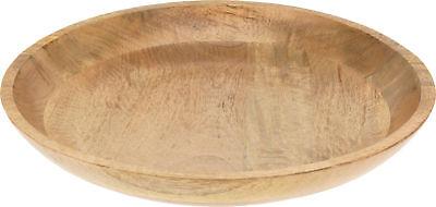 XL Deko Holz Schale Ø 40 cm - Mango Tischdeko Schale rund Obstschale Holzschale